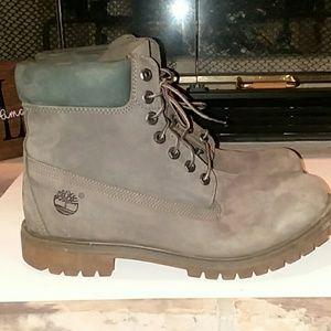 """Timberland 6"""" Premium Gray Boots"""
